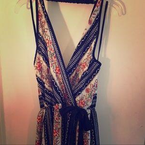 boho stripe dress
